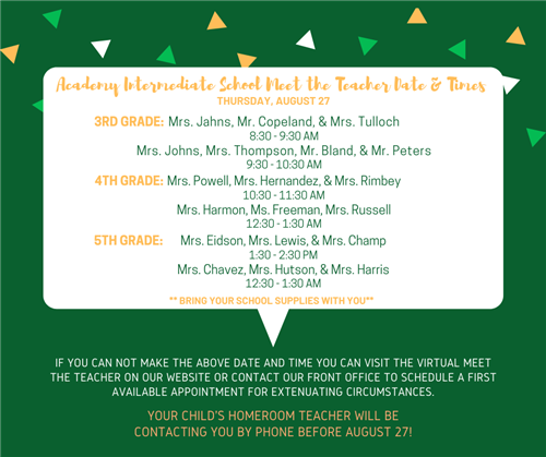 AIS Meet the Teacher August 27