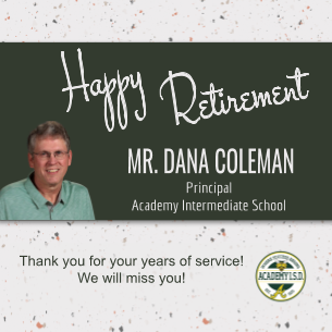 Mr. Coleman, Principal of AIS, announces his retirement