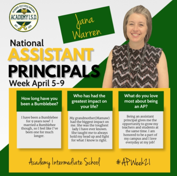 National Assistant Principals Week April 5-9