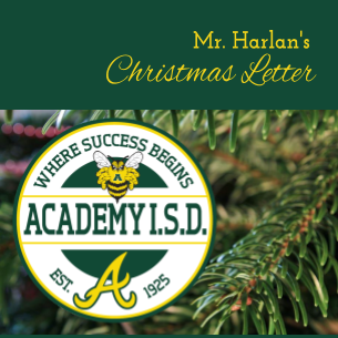 Mr. Harlan's Christmas Letter to AISD Families