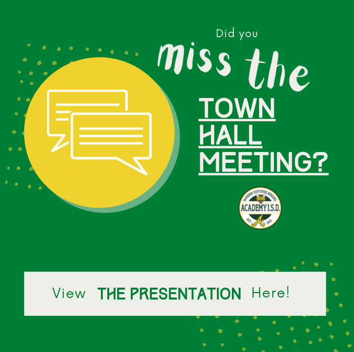 Did you miss the town hall meeting?