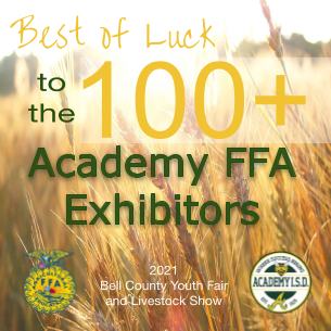 Best of Luck, Academy FFA Exhibitors - BCYF