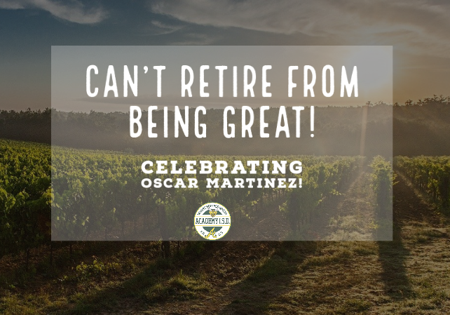 Happy Retirement, Oscar Martinez!