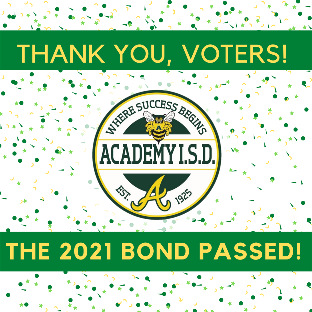 Thank you, voters! The bond passed!