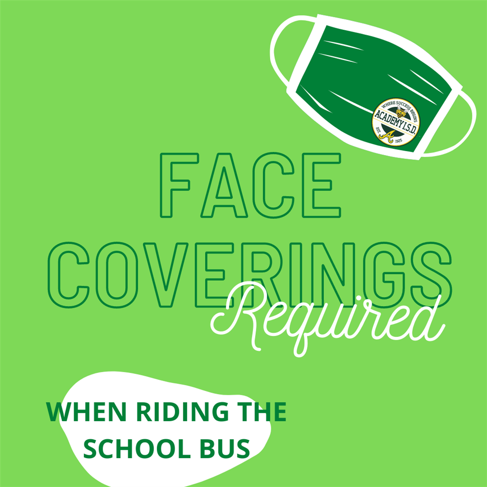 Face Masks Required When Riding School Bus